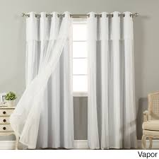 Chesapeake Tie Up Shade by Sheer Curtains With Attached Valance Curtains U0026 Drapes Compare