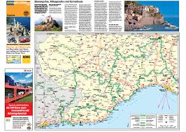 Maps Italy by Motorcycle Touring Map Italy Liguria A2 Print Italy Maps