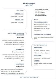 Free Sample Resume Template by Resume Templates Word 89 Cool Resume Format For Word Free