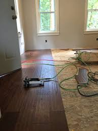 How To Cut Laminate Flooring That Is Already Installed The Micro Dwelling Project Part 5 Flooring The Daring Gourmet