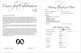 wedding ceremony programs wording zahra s wedding program wording