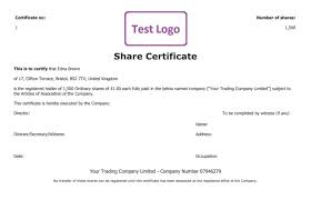 stock certificate template 21 stock certificate templates free