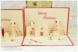 christmas 3d card christmas lights card and decore