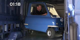 smallest cars the world u0027s smallest car meets ford u0027s biggest van peel engineering