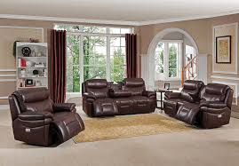 Power Reclining Sofa Set Amax Leather Summerlands Power Headrest Reclining Sofa