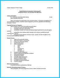 Job Resume Application Sample by Writing A Concise Auto Technician Resume