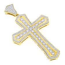 man cross necklace images 14k gold designer diamond cross pendant for men by luxurman 2 5ct jpg