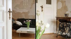 Wohnzimmer Altbau Statt Tapete Wände Im Shabby Chic Style Dh Raumdesign
