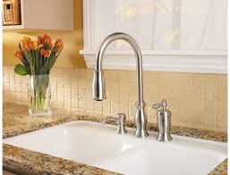 price pfister hanover kitchen faucet pfister gt526 tms hanover single handle pull kitchen faucet