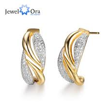 trendy earrings fashion cross gold plated classic zircon stud earrings for women