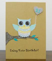 handmade owl 21st birthday card