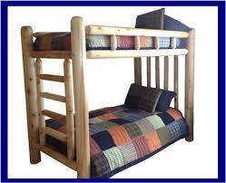 Rustic Cedar Log Bunk Beds With Free Shipping - Log bunk beds