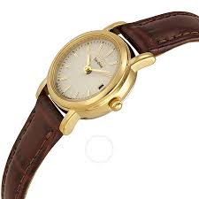 citizen eco drive champagne dial gold tone stainless steel brown