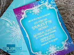 frozen invitation printable ice princess winter snowflakes