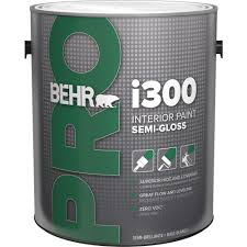 behr pro 1 gal i300 white semi gloss interior paint pr37001 the