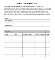 inventory list for landlords landlord inventory template 6 free