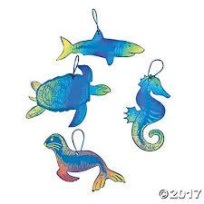 color scratch animal ornaments