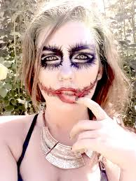 female joker halloween costume ideas face art body art painting