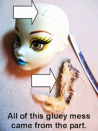 doll repainting customizing tutorials monster doll hair