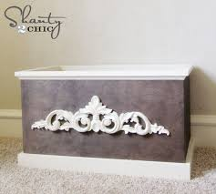 diy wood toy box or blanket box shanty 2 chic