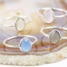 gem silver rings images Sterling silver semi precious gem ring by lisa angel jpg