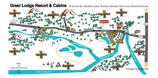 Phoenix Freeway Map by Maps U0026 Directions Greer Lodge Arizona