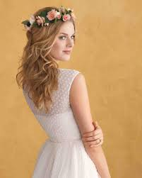 marriage bridal hairstyle floral wedding hairstyles martha stewart weddings