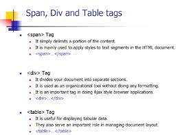 html div tag span and div incredibledaniel