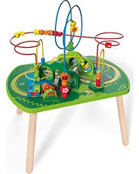 wooden activity table for great deals on hape wooden railway jungle play train activity table
