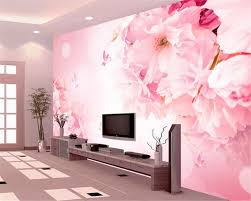 popular sakura wall mural buy cheap sakura wall mural lots from beibehang romantic sakura butterfly tv wall decorative painting 3d wallpaper home decorated mural wallpaper for walls