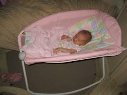 fantastic a baby bed on a with a newborn infant or baby sleeping