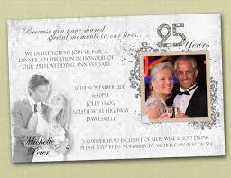 Sample Invitation Card For Wedding Amazing 25th Wedding Anniversary Invitations Theruntime Com