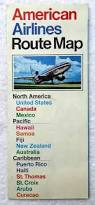 American Airline Route Map by 1973 American Airlines Route Map North America Caribbean Fiji 2