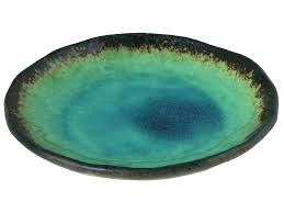 turquoise sky and earth japanese serving plate i want