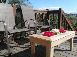 Cedar Patio Table Custom Made Handmade Cedar Patio Table Will Wow Your Guests