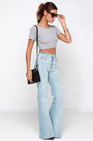 Flared High Waisted Jeans White High Waisted Flare Jeans Jeans To