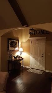 Dark Room With Amber Glass Light Fixtures