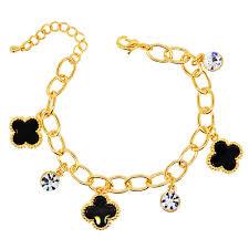 w227 acrylic clover charm bracelets for fashion jewelry