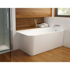 kapelle 59 inch acrylic corner bathtub with right drain