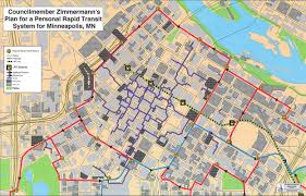 Minneapolis Neighborhood Map Downtown Minneapolis Personal Rapid Transit Network Concept