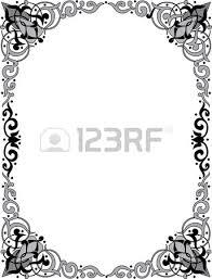 islamic arabesque style border frame with flourish ornament