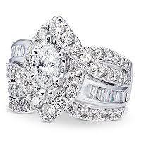 Wedding Ring Set by 1 96 Ct Tw Diamond Wedding Ring Set In 14k White Gold I I1