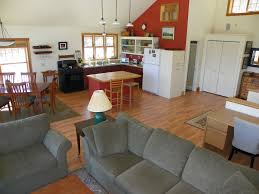 split level open floor plan living room farmhouse decor style living room split level