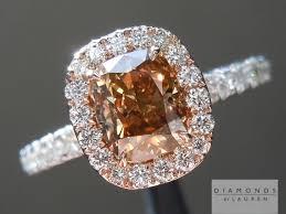 browns wedding rings brown diamond cushion cut diamond diamond ring