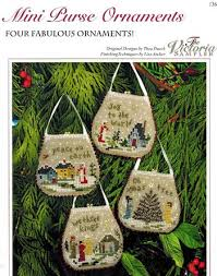 sler mini purse ornaments cross stitch pattern