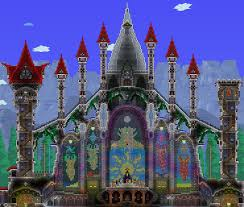 terraria guide book part 9 of my 1 3 megabuild towers and updated throne room terraria