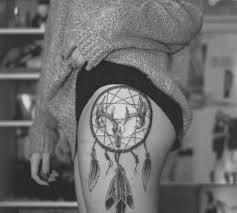 dream catcher thigh tattoo for stunning girls golfian com