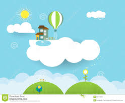home fantasy design inc landscape paper cut fantasy home sweet home sky with sun stock