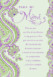mothers day card paisley flowers spanish language religious mother u0027s day card