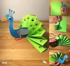 diy pretty peacock themed crafts for kids kids art u0026 craft